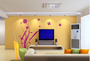 清新液体壁纸电视背景墙装修