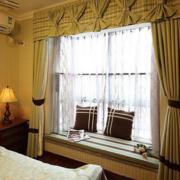 素雅欧式飘窗窗帘设计