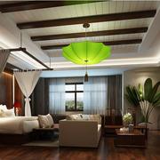 清新中式别墅卧室装修设计
