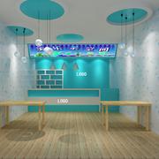 清新奶茶店设计