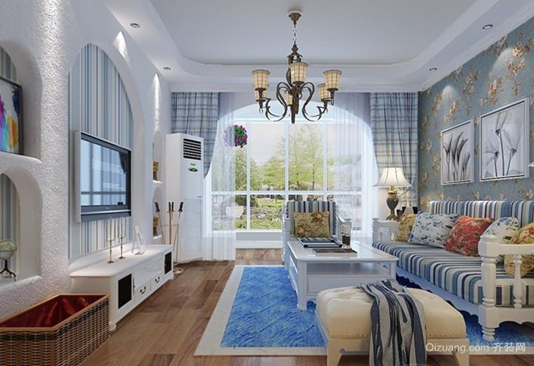 在家度蜜月 地中海风格客厅装修效果图鉴赏