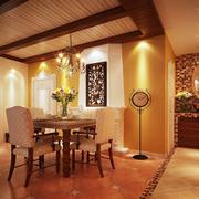 精装东南亚餐厅吊顶设计