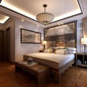 时尚新中式卧室装修