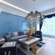 都市欧式别墅客厅沙发墙设计