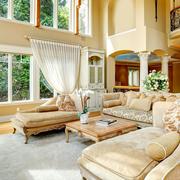素雅欧式奢华别墅窗帘设计