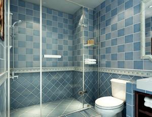 干净整洁的地中海风格卫生间设计装修效果图欣赏