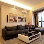 简约欧式别墅客厅沙发墙设计