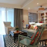 清新沙发背景装修设计