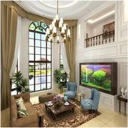 精装美式别墅窗帘设计