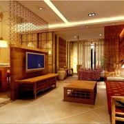 华美东南亚客厅背景墙装修设计