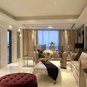 都市客厅石膏线装修设计
