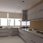 宽敞厨房橱柜装修设计