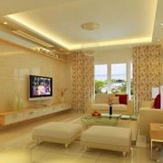 华美欧式客厅电视墙装修