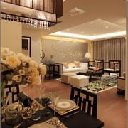 时尚中式客厅装修设计