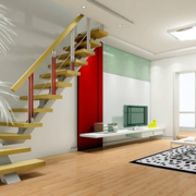 清新跃层式住宅楼梯装修设计
