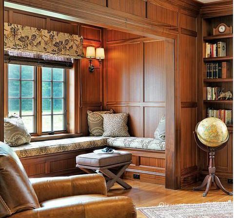 自由风格美式别墅飘窗装修效果图