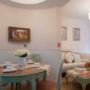 素雅美式客厅隔断装修设计