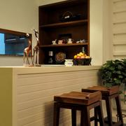 大气东南亚风格吧台设计