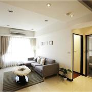 现代简约都市单身公寓温馨客厅