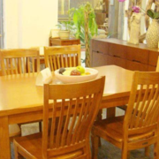 复古餐厅餐桌设计