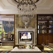 大气美式别墅电视背景墙设计