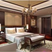 时尚东南亚别墅卧室装修
