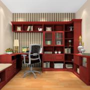 经典小书房桌柜装修设计