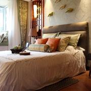 时尚古典东南亚卧室飘窗设计