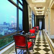 潮流欧式客厅地板砖装修