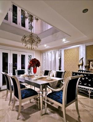 精装小洋房客厅吊顶装修设计