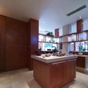 大气中式厨房橱柜装修设计