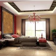 精致中式别墅卧室装修设计
