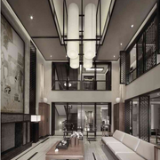 都市中式客厅装修设计