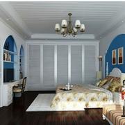 恬静地中海别墅卧室装修设计
