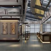 都市中式书画展厅装修