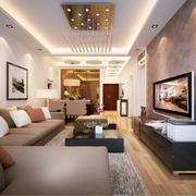 精致小洋房客厅吊顶装修设计
