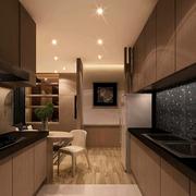 高档小户型开放式厨房装修