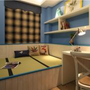 地中海风卧室榻榻米装修设计
