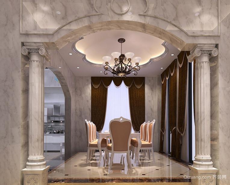 典雅端庄的法式餐厅吊顶造型装修效果图鉴赏