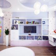大气儿童房整体书柜装修设计
