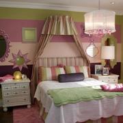 靓丽小卧室墙衣装修效果图
