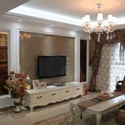 简约欧式客厅电视墙装修