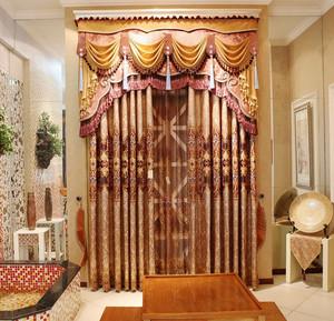 精美欧式奢华别墅窗帘设计