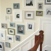 素雅楼梯照片墙装修