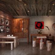 精装咖啡厅桌椅设计