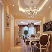 法式浪漫餐厅吊顶装修