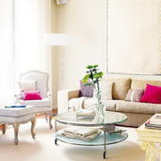 温馨小洋房客厅吊顶装修设计