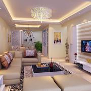素雅欧式别墅客厅沙发墙设计
