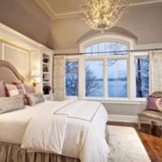 大气阁楼窗户窗帘设计