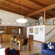 复古跃层式住宅楼梯装修设计